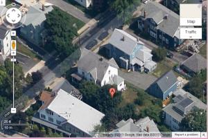 satelite view of house
