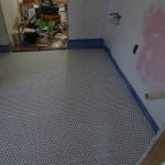 Tiling the Bathroom Floor