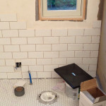 Tiling the bathroom walls