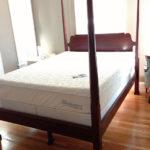 Hardwood Floors, Bed, and Mattress
