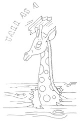 Tall as a giraffe